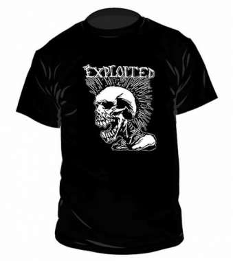 The Exploited Mohican Skull t-paita